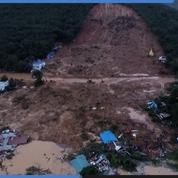 Birmanie : les images des dégâts causés par un glissement de terrain meurtrier