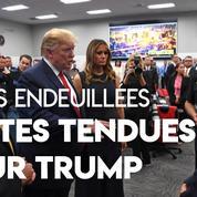 Fusillades : Donald Trump a passé «une superbe journée» en visite dans les villes endeuillées malgré les manifestations