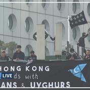 Une manifestation à Hongkong en soutien aux Ouïghours dispersée par la police