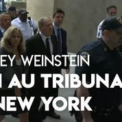 L'arrivée d'Harvey Weinstein au tribunal à New York
