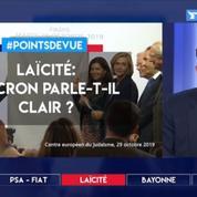 Laïcité: Macron parle-t-il clair?