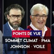 Points de vue du 24 septembre : Johnson, sommet climat, PMA, voile