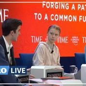 À Davos, Greta Thunberg affirme que «rien n'a été fait» pour le climat