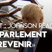 Brexit : Boris Johnson «pas d'accord» avec l'arrêt de la Cour suprême