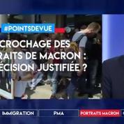 Décrochage des portraits de Macron : une décision justifiée ?