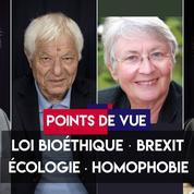 Points de vue du 10 septembre : bioéthique, Brexit, écologie, homophobie