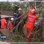 Les images de la violente tempête touchant le Brésil