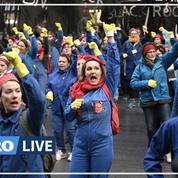 Retraites: des manifestantes investissent la gare de l'Est pour un flashmob contre la réforme