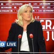Coronavirus : Marine Le Pen pas opposée aux contrôles aux frontières avec l'Italie