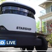 Aux États-Unis, des robots livrent les provisions aux clients confinés