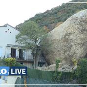 Intempéries: un éboulement de rochers frappe une commune du Sud-Est