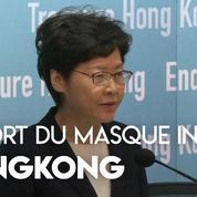 Hongkong : le port du masque désormais interdit