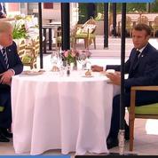 Donald Trump et Emmanuel Macron ont déjeuné ensemble à l'occasion du G7