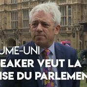 Royaume-Uni : le speaker John Bercow appelle à la reprise du Parlement