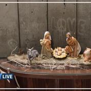 Les images de la crèche de Noël signée Banksy à Bethléem