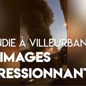 Villeurbanne : les images impressionnantes de l'incendie