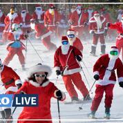 Aux États-Unis, des centaines de Pères Noël font du ski pour récolter des dons