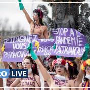 À Paris, des Femen «nettoient» la Concorde pour dénoncer une «pandémie patriarcale»