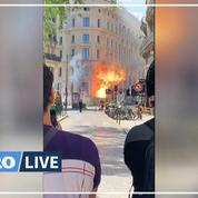 Paris: une fuite de gaz embrase un immeuble rue Étienne Marcel