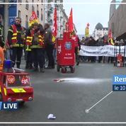 À Rennes, un camion de pompier miniature lance le départ du cortège