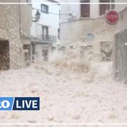 Tempête Gloria: la côte catalane envahie par une épaisse écume