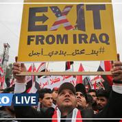 Des milliers d'Irakiens manifestent contre la présence des troupes américaines