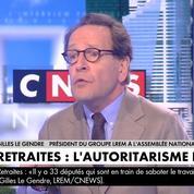 Retraites: le 49.3 est une «prérogative» du gouvernement, assure Gilles Le Gendre