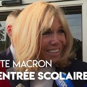 La rentrée scolaire de Brigitte Macron : «Je me sens très bien»