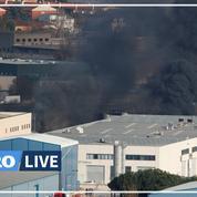 Les images spectaculaires d'un incendie dans une usine près de Barcelone