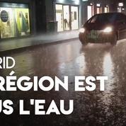 Espagne : des inondations torrentielles dans la région de Madrid