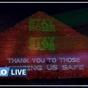 Coronavirus: la pyramide de Gizeh illuminée pour appeler au confinement mondial