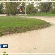 Les images des inondations dans le Var et dans les Alpes-Maritimes