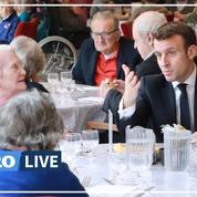 Coronavirus: Emmanuel Macron rencontre les résidents d'un Ehpad