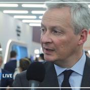 Bruno Le Maire: «Aux Etats-Unis de savoir ce qu'ils veulent» sur la taxe numérique