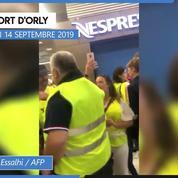 «Gilets jaunes» : une manifestation à l'aéroport d'Orly