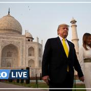 Visite de Trump en Inde: un mur construit pour cacher un bidonville