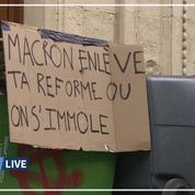 Grève: des élèves bloquent le lycée Burgot à Paris
