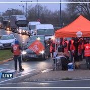 Grève des routiers: les automobilistes se disent «solidaires» des grévistes
