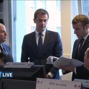 Coronavirus: Macron visite la cellule de crise du ministère de la Santé