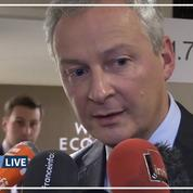 A Davos, Bruno Le Maire réfute tout recul sur la taxe numérique