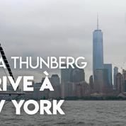 Greta Thunberg arrive à New York en voilier