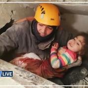 Turquie: une fillette retrouvée sous les décombres après un puissant séisme