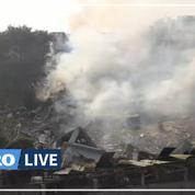 Inde: une usine s'effondre après un incendie