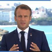 Emmanuel Macron appelle «au calme» les opposant au G7