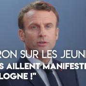 Climat : les critiques d'Emmanuel Macron sur les marches des jeunes