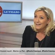 Primaire d'extrême droite: «On n'est pas dans un jeu de téléréalité», réagit Marine Le Pen