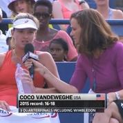 Tennis: une interview en plein match