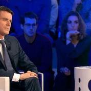 On n'est pas couché :Manuel Valls bat un record sur les réseaux sociaux