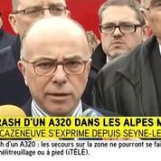 Bernard Cazeneuve confirme qu'une boîte noire a été retrouvée