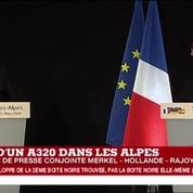 Crash de l'A320 : Angela Merkel remercie les secours français